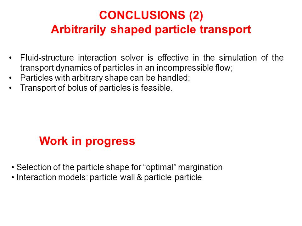 Arbitrarily shaped particle transport
