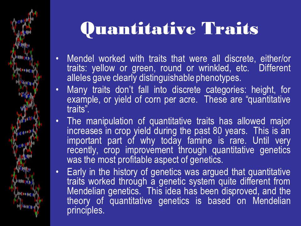 Quantitative Traits