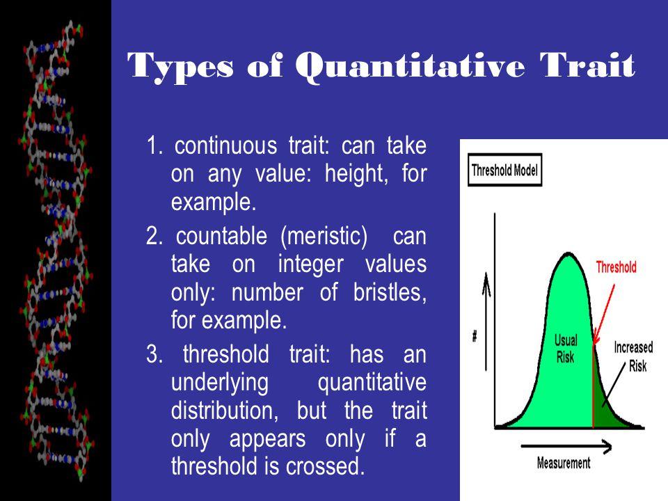 Types of Quantitative Trait