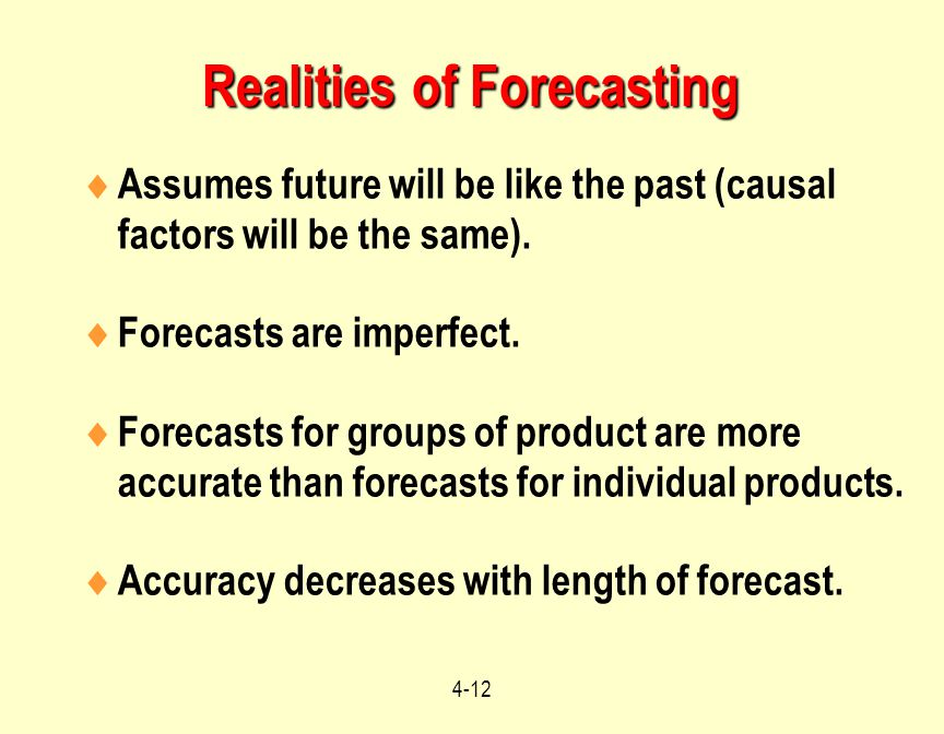 Realities of Forecasting