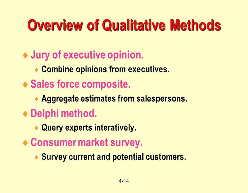 Overview of Qualitative Methods
