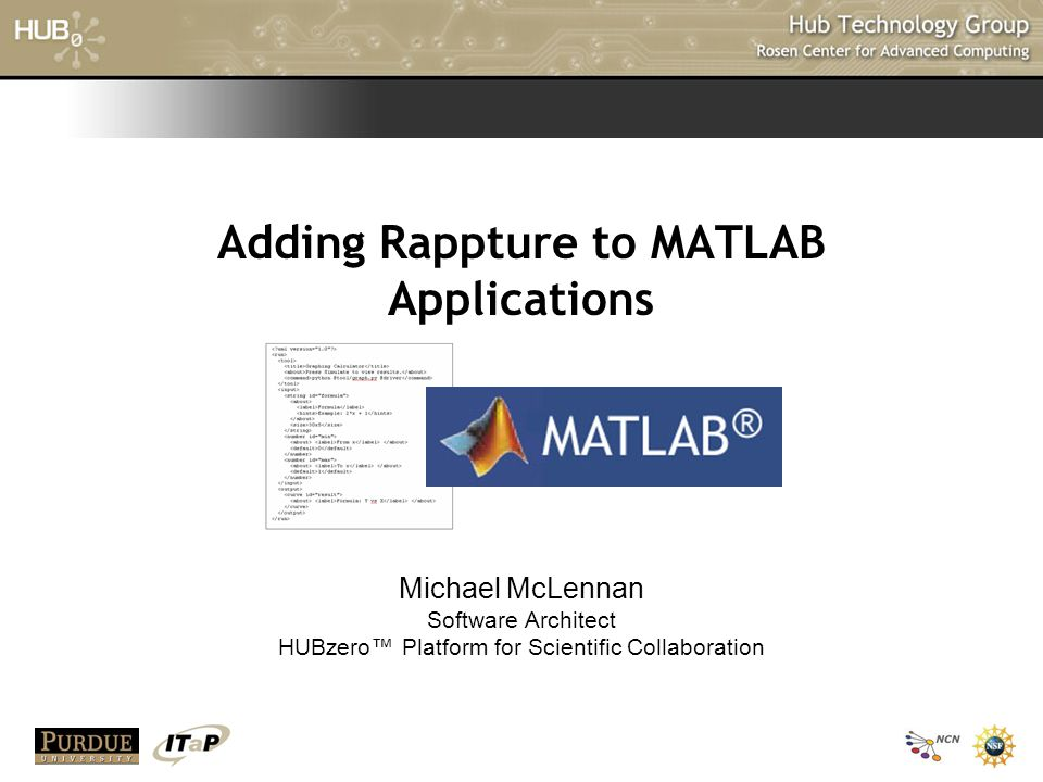 Adding Rappture to MATLAB Applications