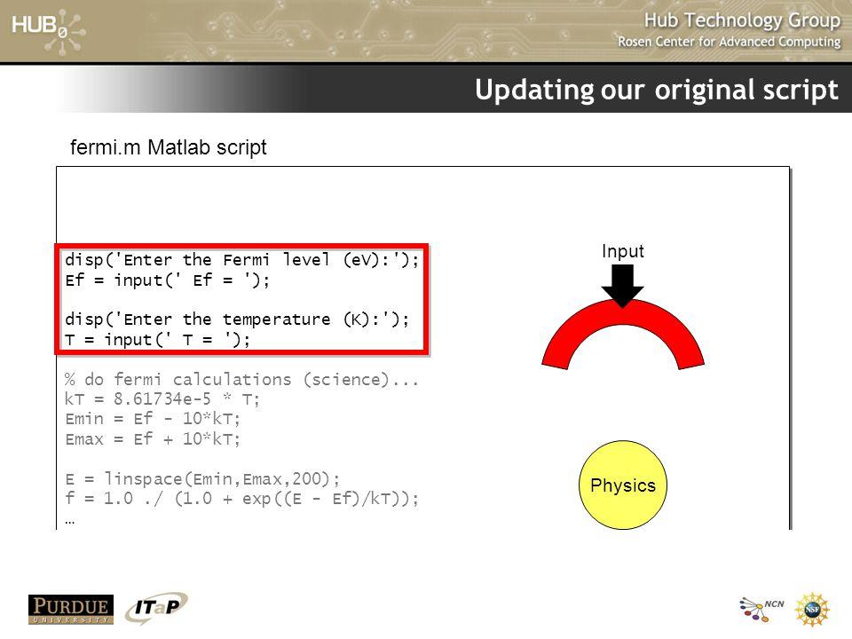Updating our original script