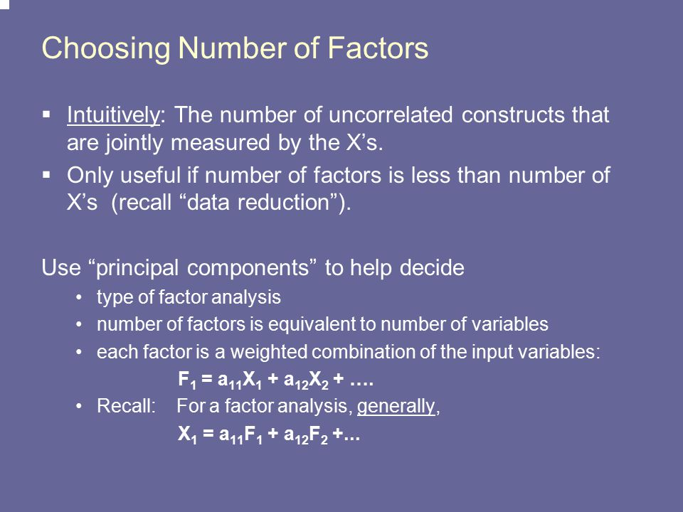 Choosing Number of Factors