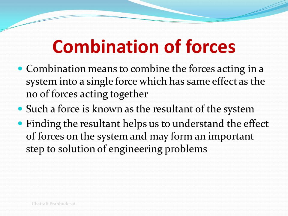 Combination of forces