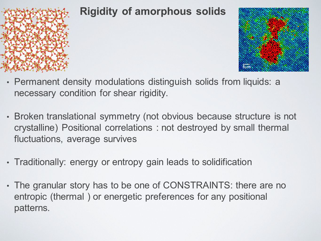 Rigidity of amorphous solids