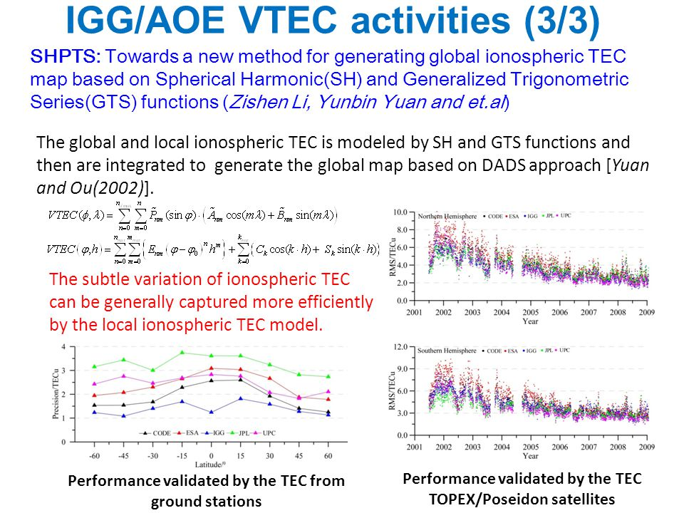 IGG/AOE VTEC activities (3/3)