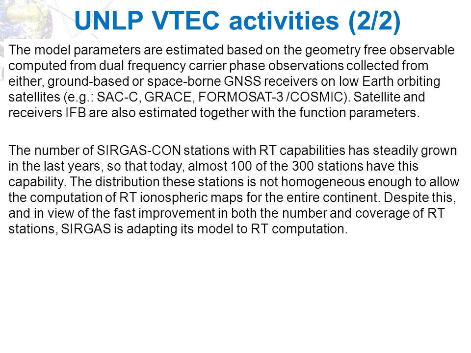UNLP VTEC activities (2/2)