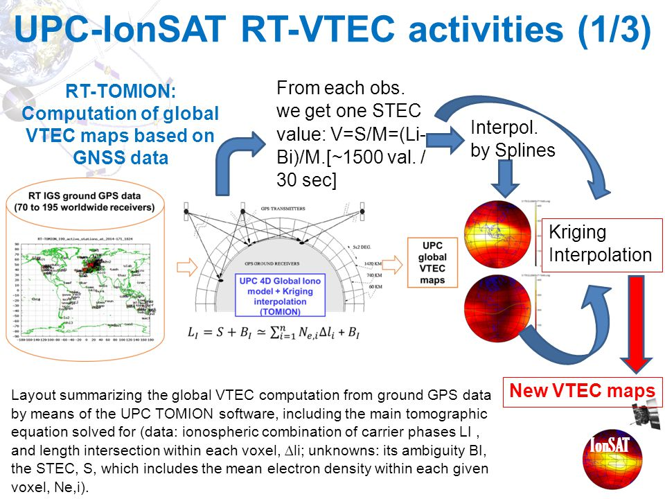 RT-TOMION: Computation of global VTEC maps based on GNSS data