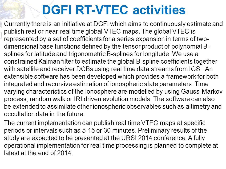 DGFI RT-VTEC activities