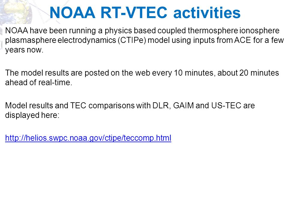 NOAA RT-VTEC activities
