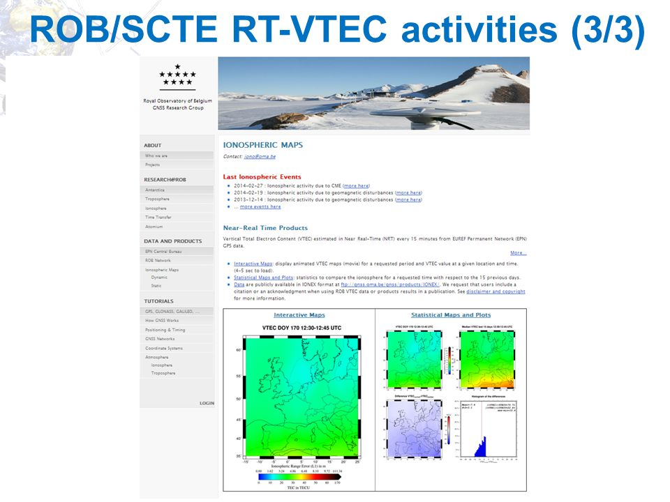ROB/SCTE RT-VTEC activities (3/3)