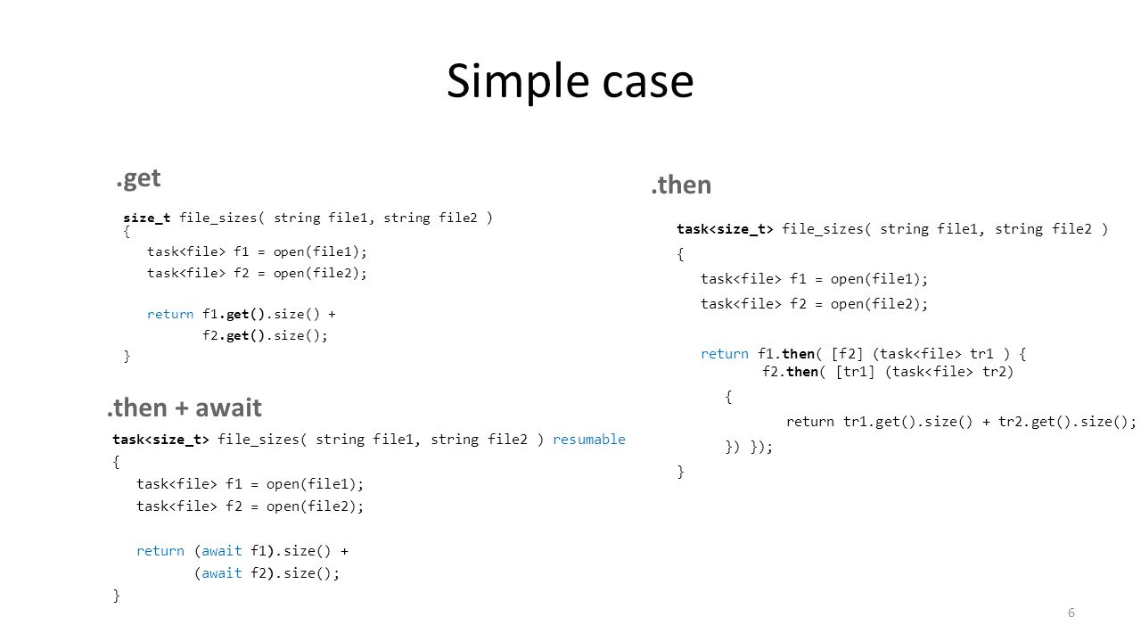 Simple case .get .then .then + await