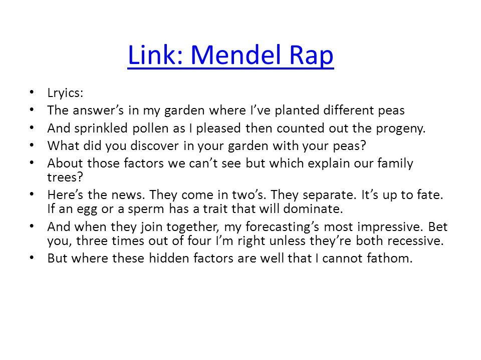 Link: Mendel Rap Lryics: