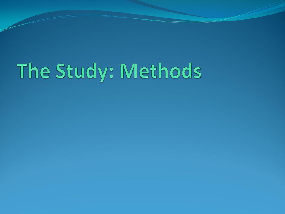 The Study: Methods