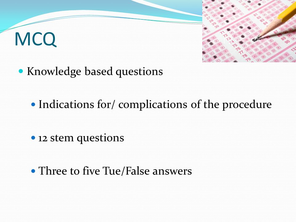 MCQ Knowledge based questions