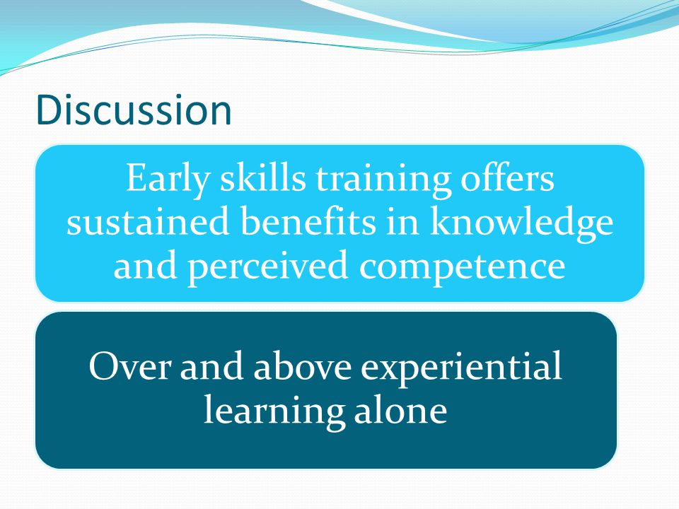 Over and above experiential learning alone