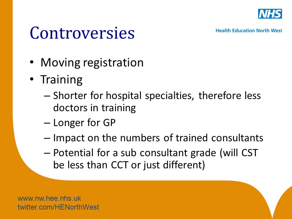 Controversies Moving registration Training
