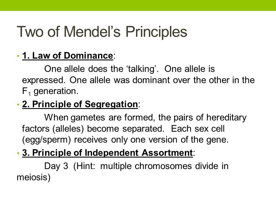 Two of Mendel's Principles