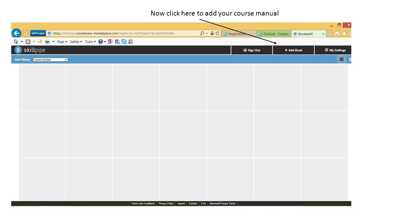 Now click here to add your course manual