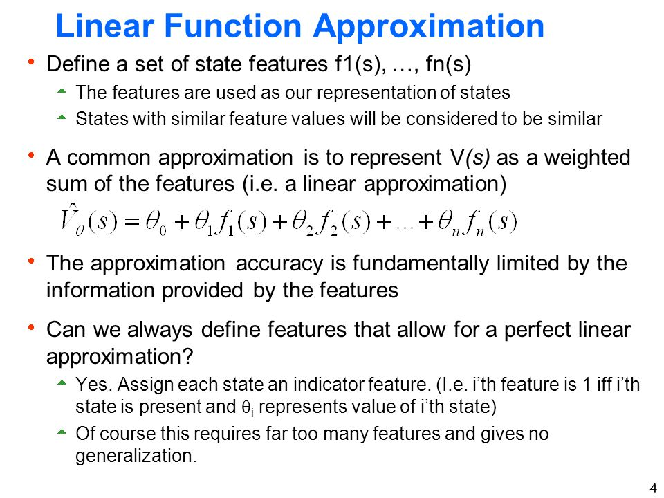 Linear Function Approximation