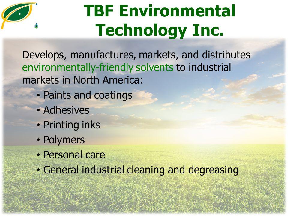 TBF Environmental Technology Inc.