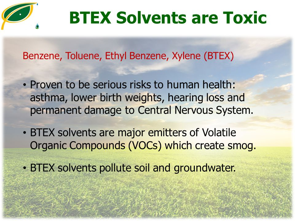 BTEX Solvents are Toxic