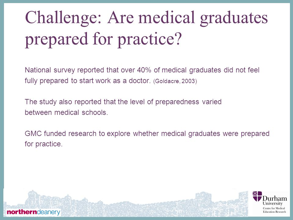 Challenge: Are medical graduates prepared for practice
