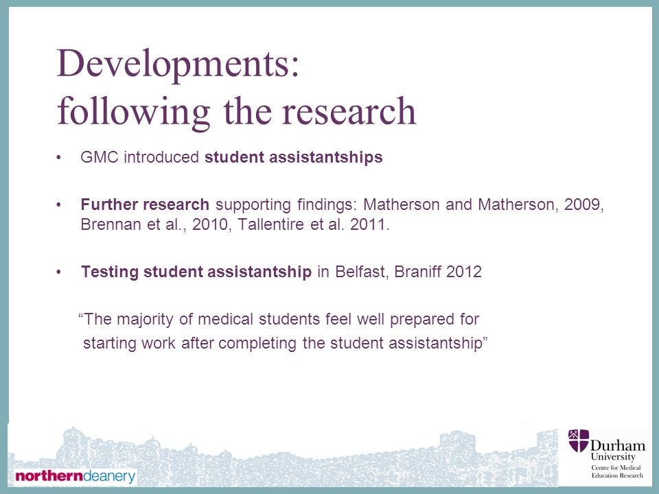 Developments: following the research