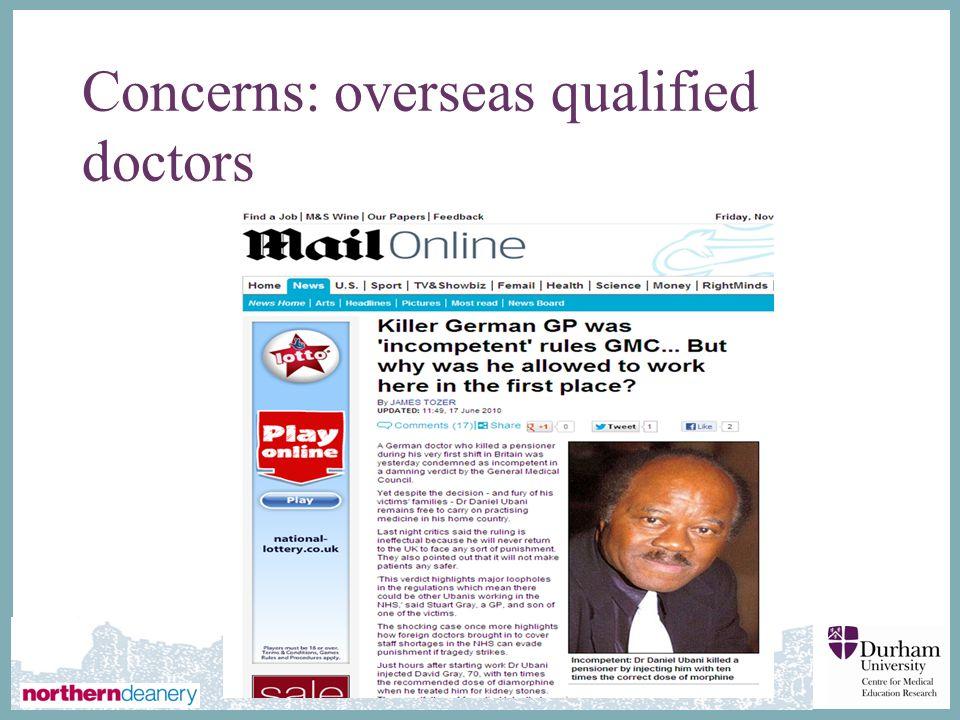 Concerns: overseas qualified doctors