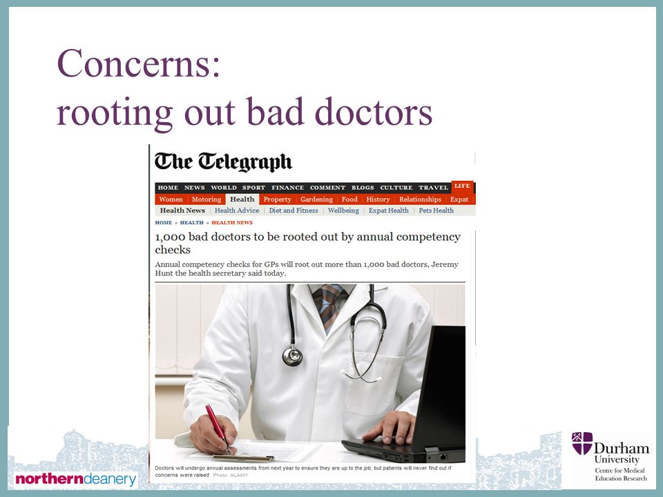 Concerns: rooting out bad doctors
