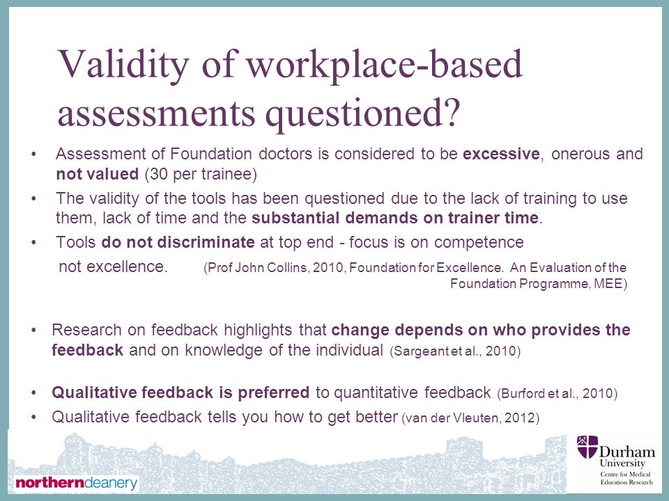 Validity of workplace-based assessments questioned
