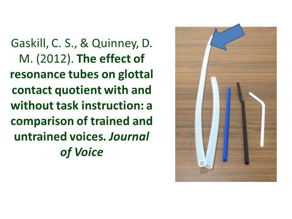 Gaskill, C. S. , & Quinney, D. M. (2012)