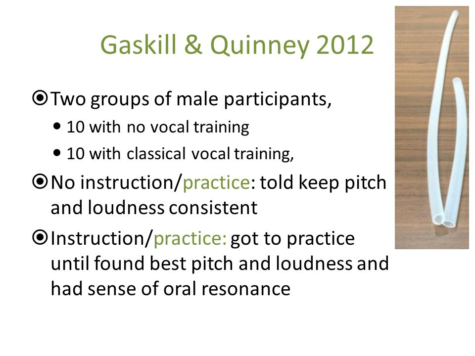 Gaskill & Quinney 2012 Two groups of male participants,