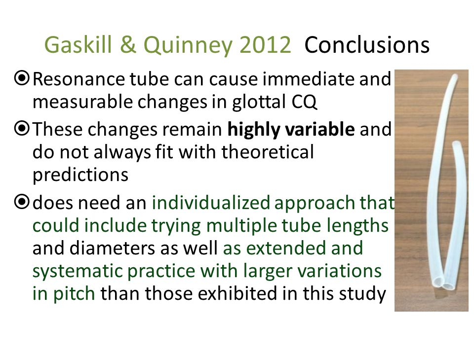 Gaskill & Quinney 2012 Conclusions