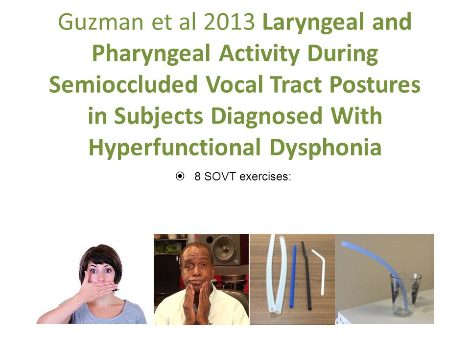 Guzman et al 2013 Laryngeal and Pharyngeal Activity During Semioccluded Vocal Tract Postures in Subjects Diagnosed With Hyperfunctional Dysphonia
