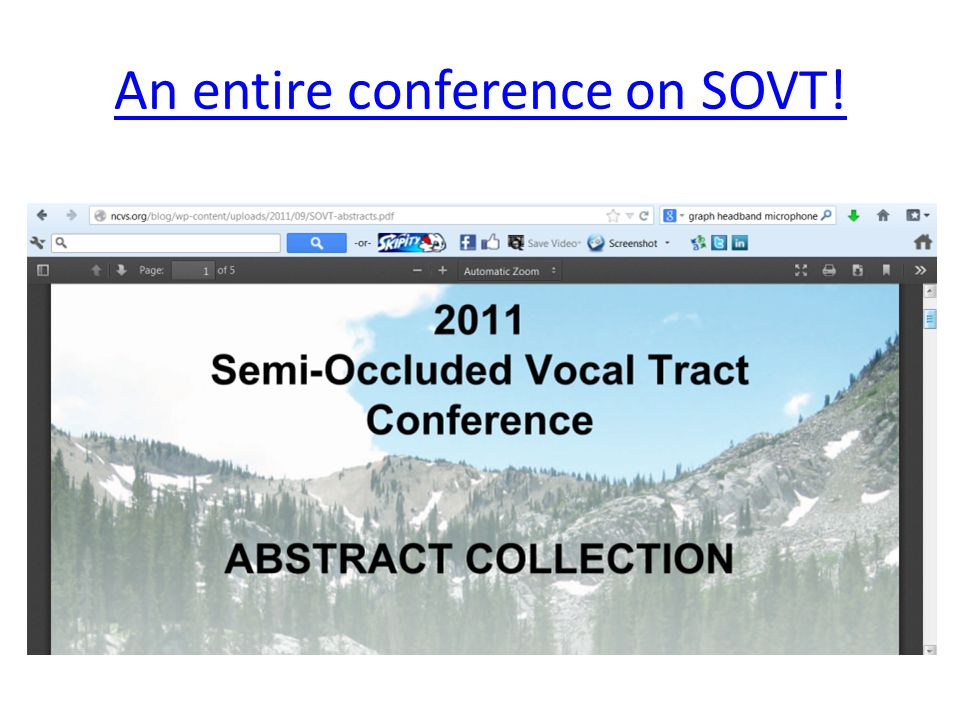 An entire conference on SOVT!
