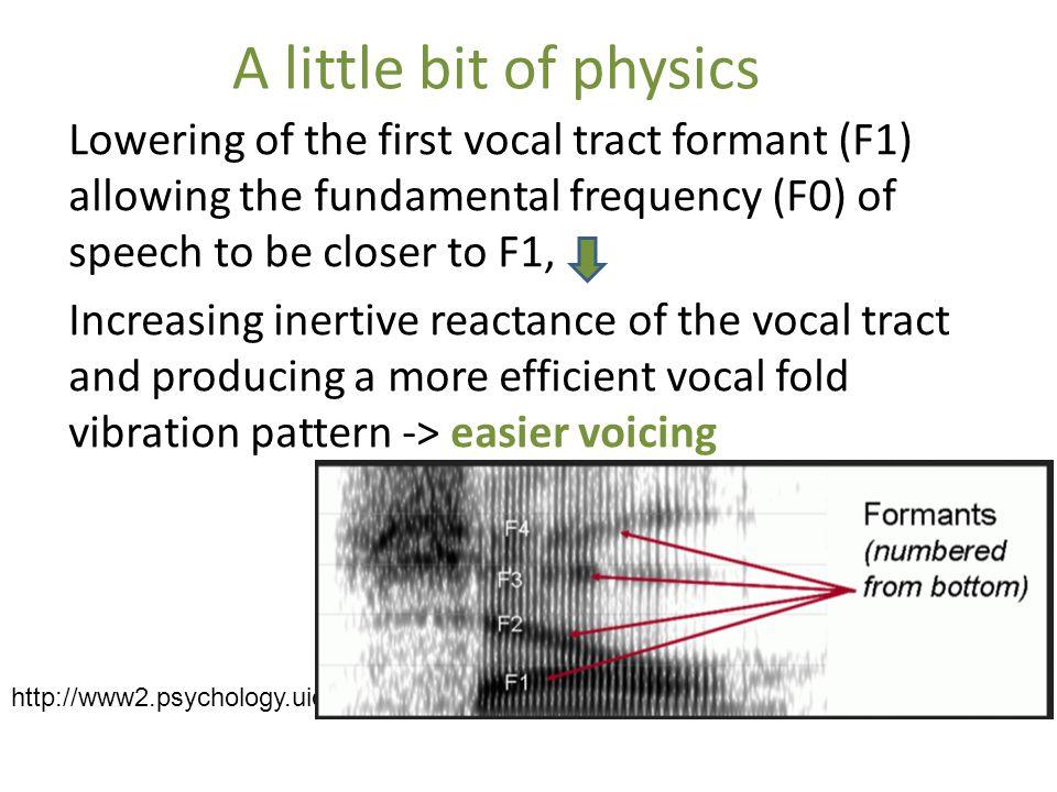 A little bit of physics