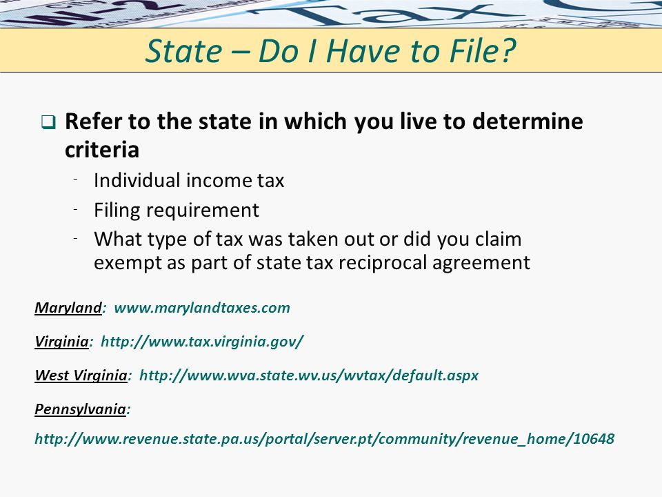 Catholic university tax filing march 2 ppt download state do i have to file refer to the state in which you live to ccuart Image collections