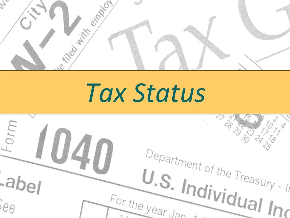 Tax Status