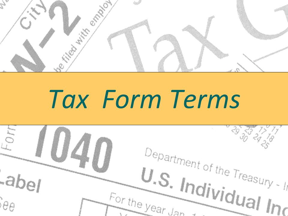Tax Form Terms