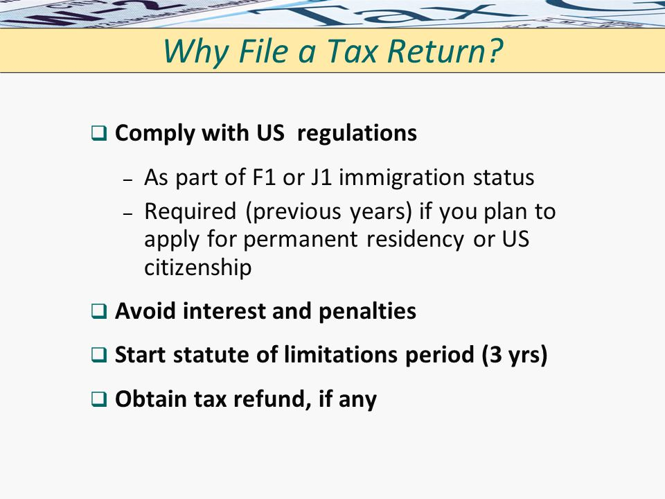 citizenship application required to file tax