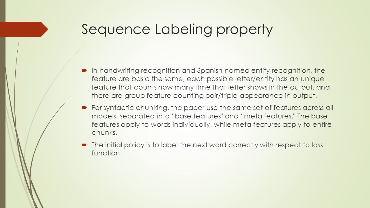 Sequence Labeling property