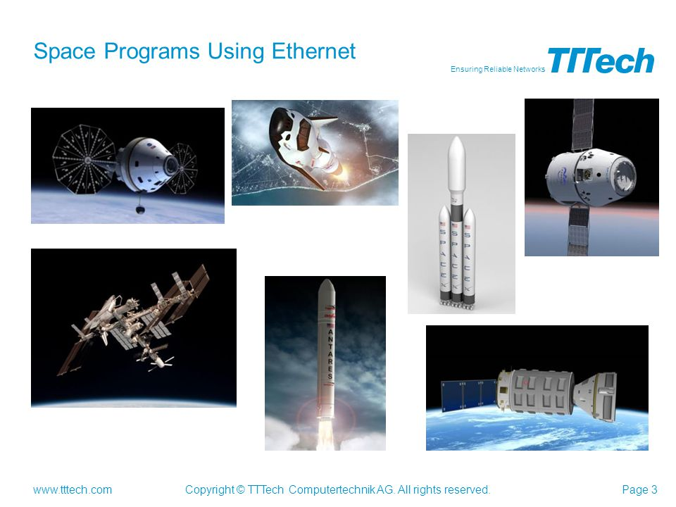 Space Programs Using Ethernet