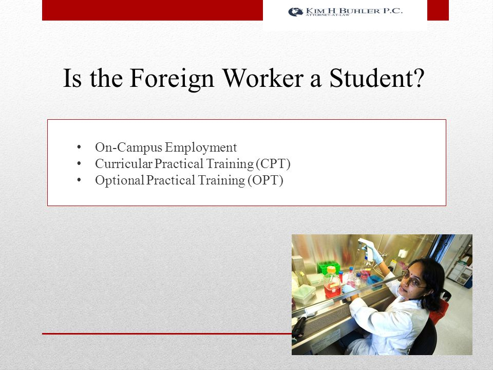 Is the Foreign Worker a Student