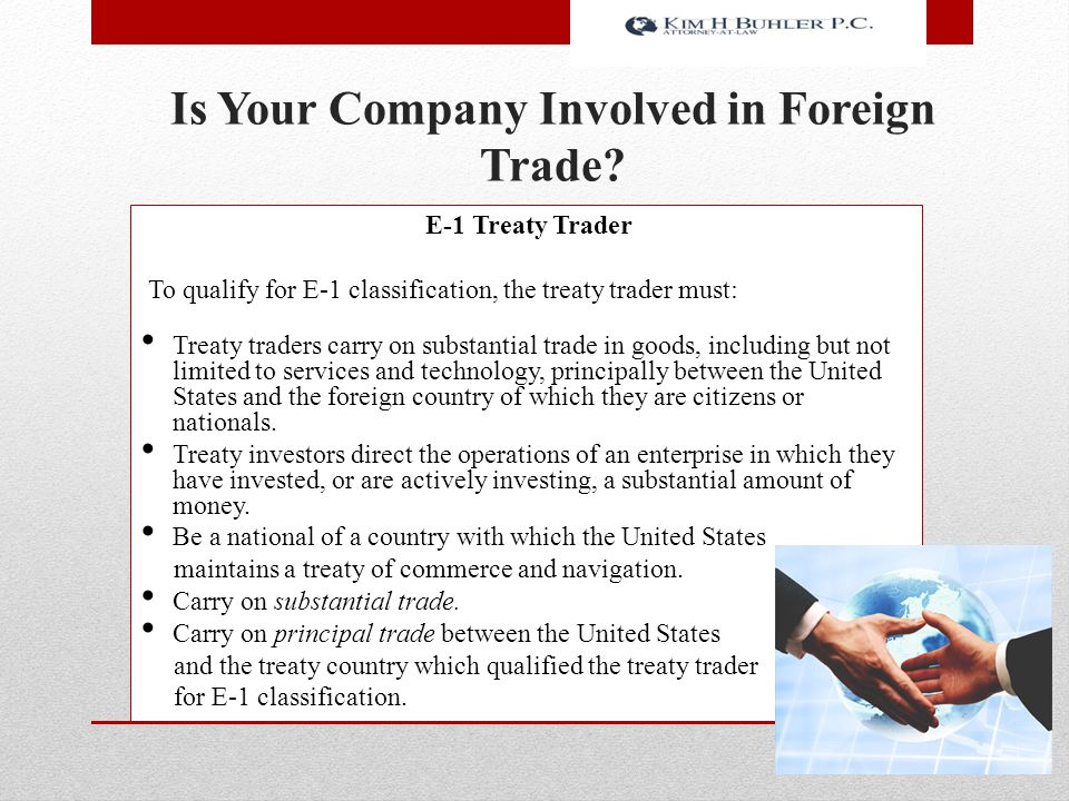 Is Your Company Involved in Foreign Trade