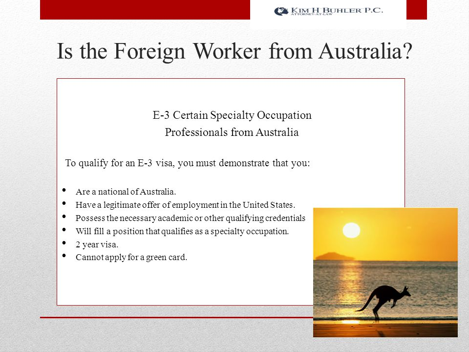 Is the Foreign Worker from Australia