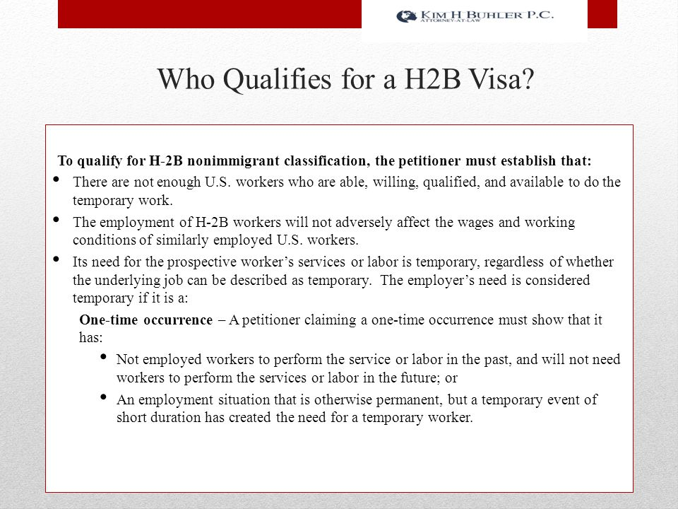 Who Qualifies for a H2B Visa