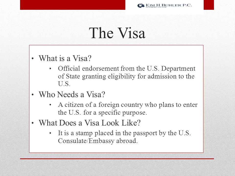 The Visa What is a Visa Who Needs a Visa What Does a Visa Look Like