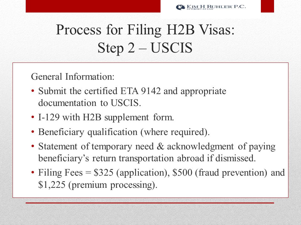 Process for Filing H2B Visas: Step 2 – USCIS